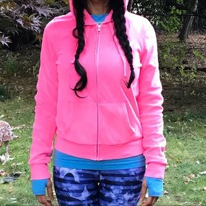 Victoria Secret Love Pink Dog Velour Hoodie NWOT